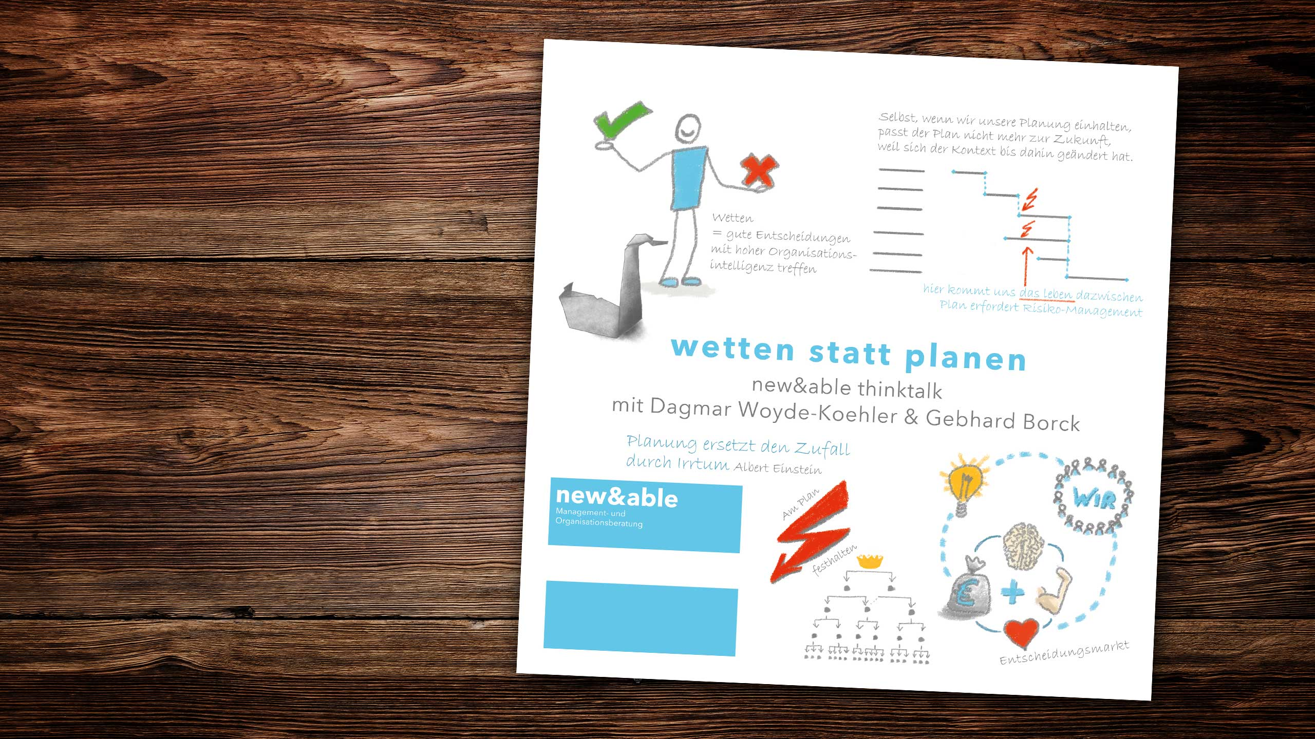 new&able thinktalk: Wetten statt Planen